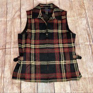 Breeches 90s Wool Zip Zip Vest
